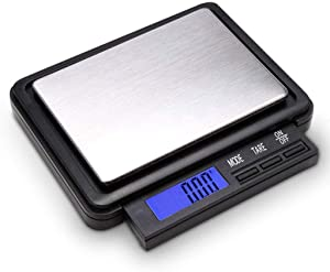 Digital Food Scale Kitchen Scale Retractable Screen Display,2kg/0.1G Electronic Baking Scale,LCD Kitchen Scale
