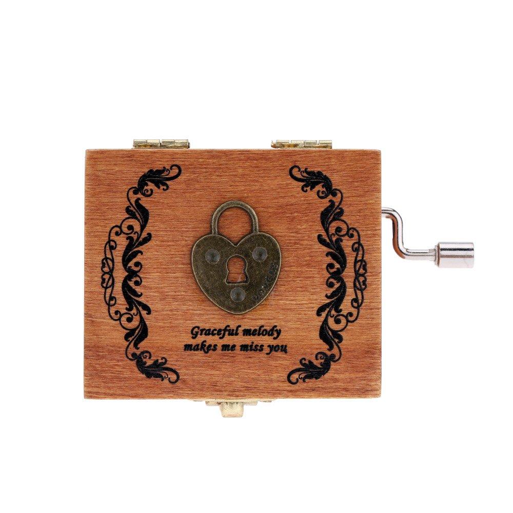 【返品交換不可】 (3 ) - ammoon 2# Retro Wooden 2# Musical Workmanship Box Hand Crank Music Box Exquisite Workmanship 4 Patterns for Option B01D4T14QW 2# 2#, アクセサリーと雑貨 Swaps:c3b22c8b --- arcego.dominiotemporario.com
