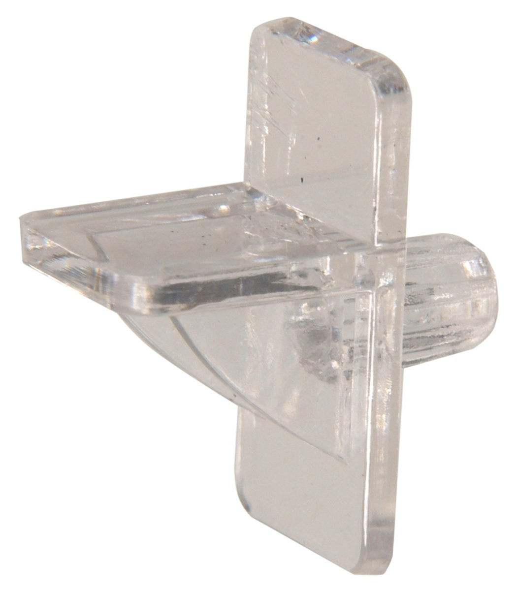 Hillman 52052 Square Shelf Pin-Clear Plastic, Fits 1/4-Inch Hole, 1/4-Inch Pin Length, 15-Pack