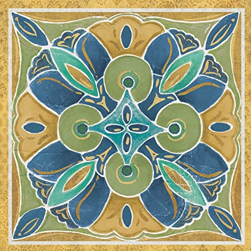 Free Bird Mexican Tiles I by Daphne Brissonnet Art Print, 18 x 18 inches