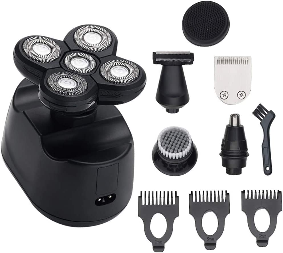 karrychen 6 in 1 Electric Shavers for Men Bald Head Razors Rechargeable Cordless Trimmer