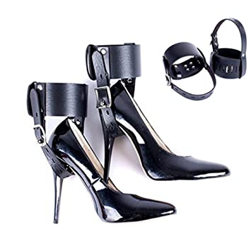 9662e266f2f Feet Locking Restraint Ankle Belt Sex Toy for High-Heeled Shoes Straps for  BDSM Female