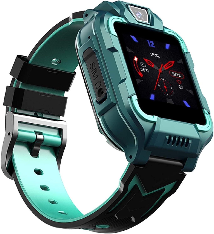 YONGQING Reloj Inteligente 4G GPS a Prueba de Agua para niños con videollamada, Rastreador Bluetooth con Pantalla táctil de 1,4