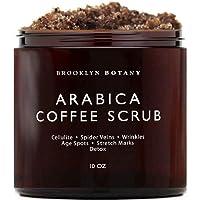 Brooklyn Botany Arabica Coffee Body Scrub & Face Scrub - 100% Natural - Coconut...