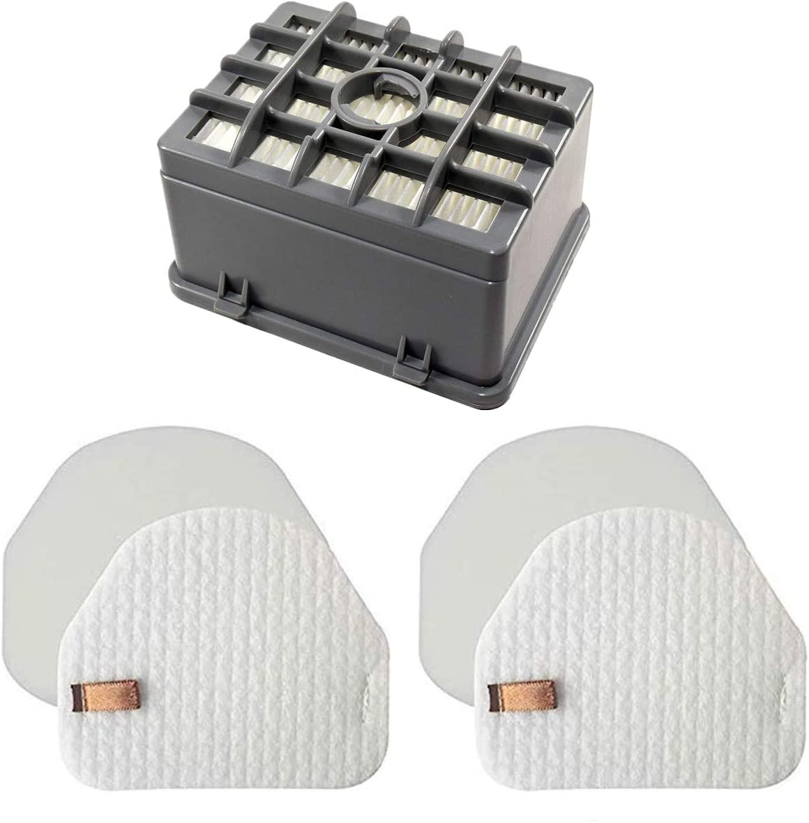 "LLHome NV200 Hepa Filter(1 Hepa+2 Foam&Felt for Shark NV450 NV480 NV472 NV481 NV201 NV202 NV200 NV200Q NV200C NV202C Vacuum, XHF480 & XHF450 (Tall Size 2.75"")"