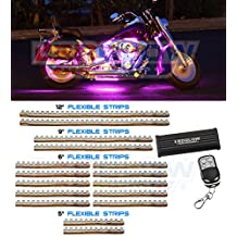 LEDGlow 16 Piece 282 LED Pink Motorcycle Lighting Kit