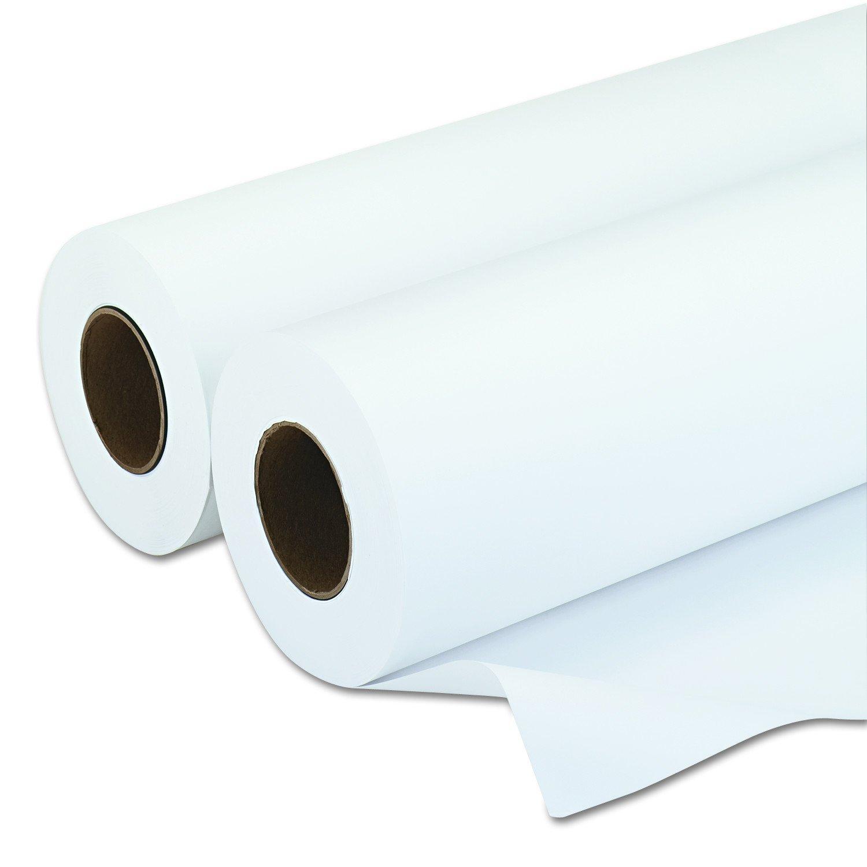 PM Company 09124 Amerigo Wide-Format Paper, 20 lbs., 3'' Core, 24''x500 ft, White (Case of 2)