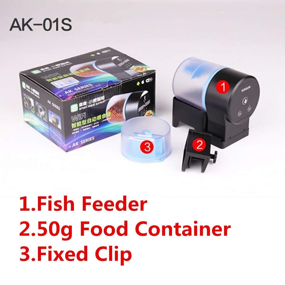 TOYECOTA - USB Charging Automatic Fish Feeders for Aquarium Fish Tank Auto Feeders Timer Pet Feeding Dispenser Indicate Fish Feeder 50/100g