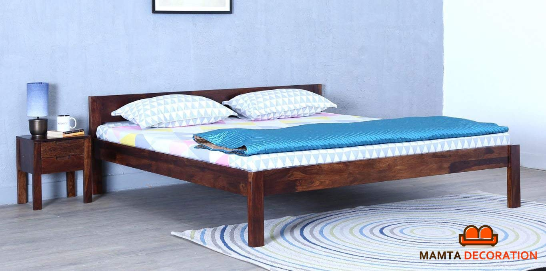 MAMTA DECORATION Queen Size Solid Wood Bed (Sheesham Wood - Teak Finish)