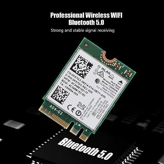 5 GHz de Doble Banda para Windows XP//WIN//WIN8//Win8.1//WIN10 para Mac OS 10.5.6 o Posterior Goshyda Tarjeta WiFi de Doble Banda Tarjeta de tecnolog/ía inal/ámbrica Mini PIC-E de 2,4 GHz