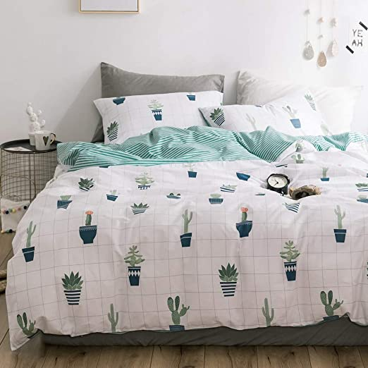 Striped Printed Duvet Cover Set Pillowcase Quilt Bedding Set Double King SKing