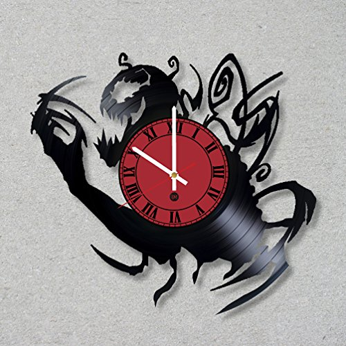 Vinyl Record Wall Clock Carnage Cletus Kasady Supervillain decor unique gift ideas for friends him her boys girls World Art Design (Girl Supervillain Costume)