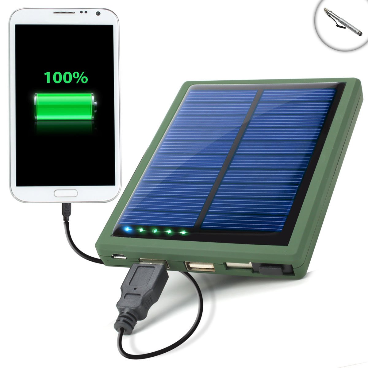 ReVIVE Solar Power Bank Charger & 5000mAh Battery Pack for Media & Internet Tablets - Includes Capacitive Stylus