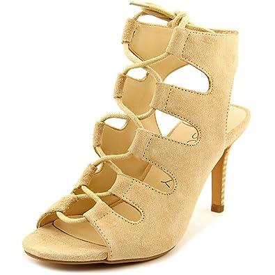 New Trendy Sole Society Rosalie Peep-Toe Suede Heels Khaki For Women Online Sale