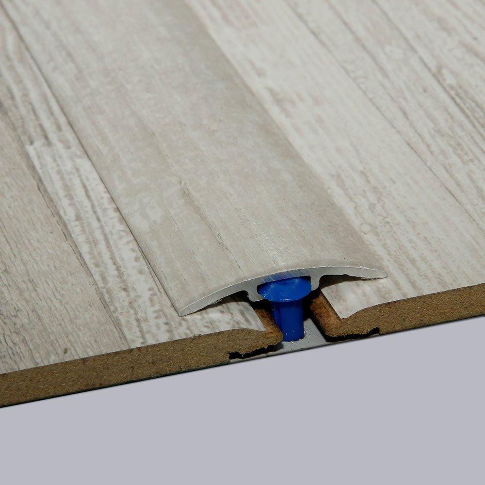 f/ür 0-4 mm H/öhenunterschied Laminat-/Übergangsschiene Vintage Wei/ß Seidenmatt 900 m