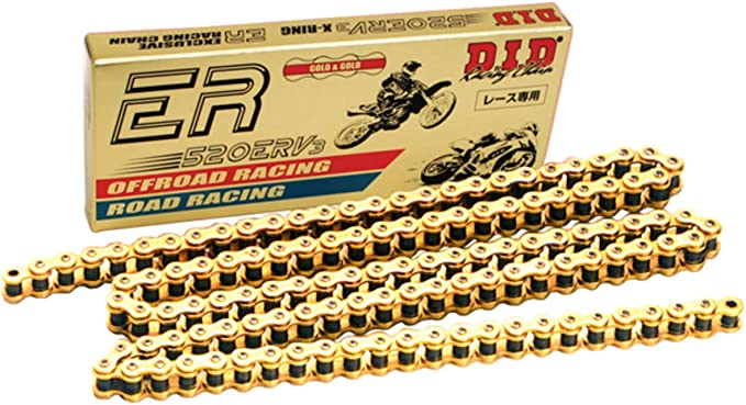 All lengths DID 520 DZ-2 Gold and Black Motorcycle Drive Chain