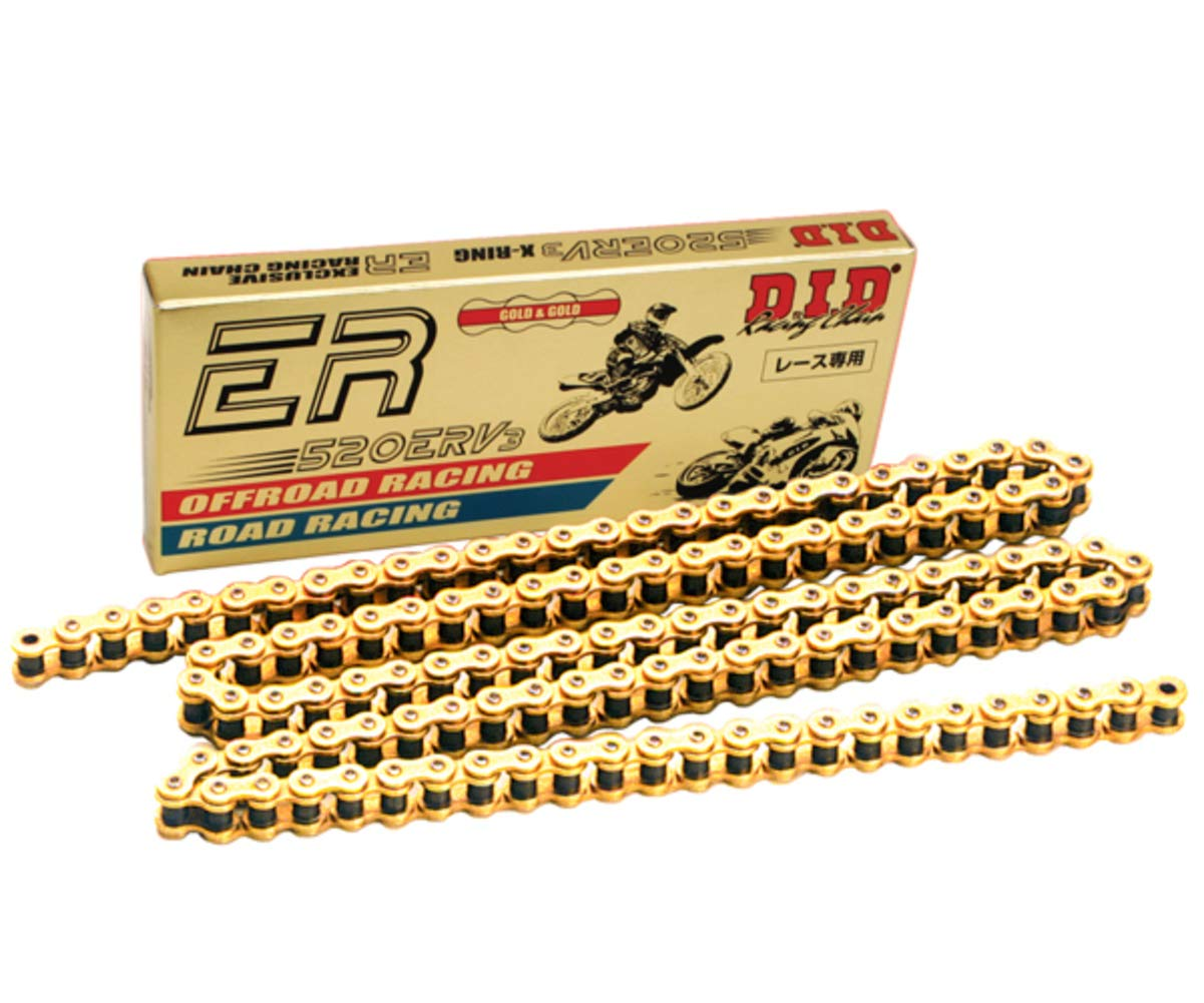 DID 520 x 120 Links ERV3 Racing Series Xring Sealed Gold Drive Chain