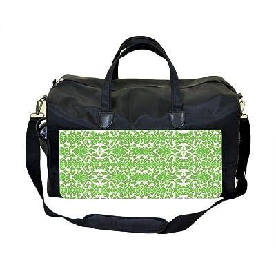 Mint Green Damask Weekender Bag