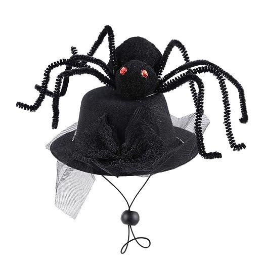 Pywee Gorro de araña de Encaje para Mascotas con Correas ...