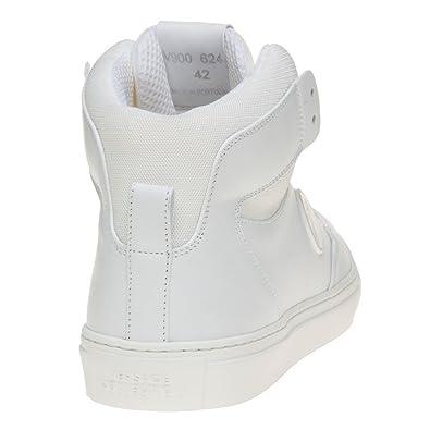 Versace Collection Saddle Branded Hi-Top Hombre Zapatillas Blanco K5EYKi9ru6