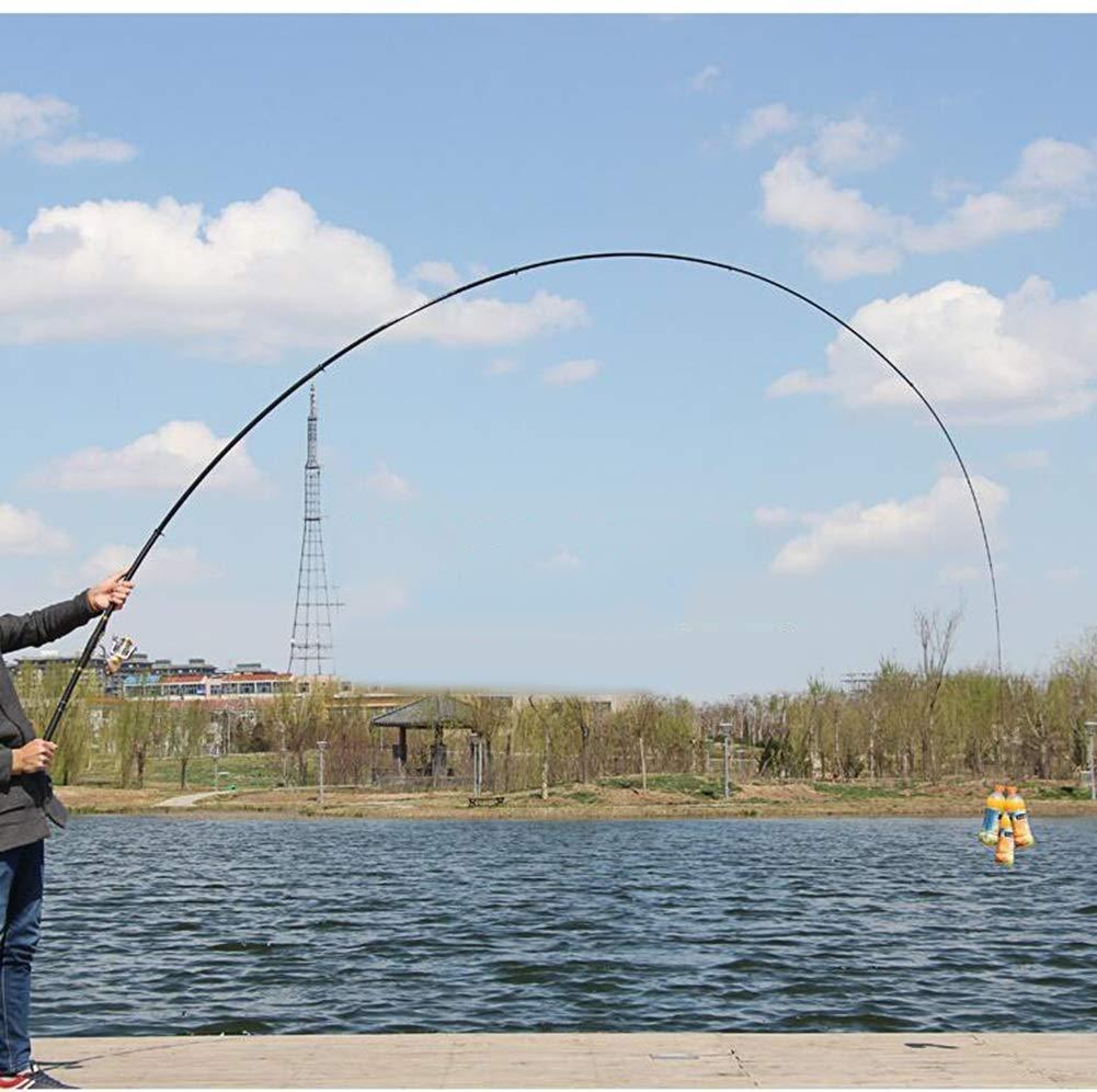 AA-fishing rod DYUG Angelrute Leichte Carbon Multipurpose Super Hard Holiday mit flexiblen F/ührungsringen