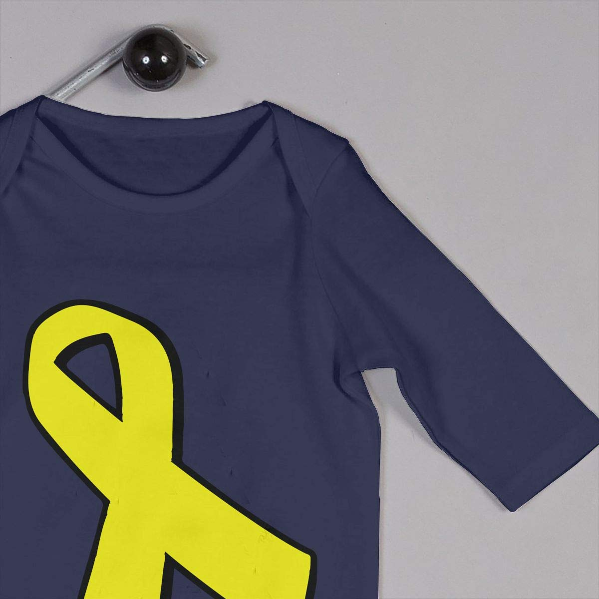 Mri-le1 Baby Boy Jumpsuit Sarcoma Bone Cancer Ribbon Baby Clothes