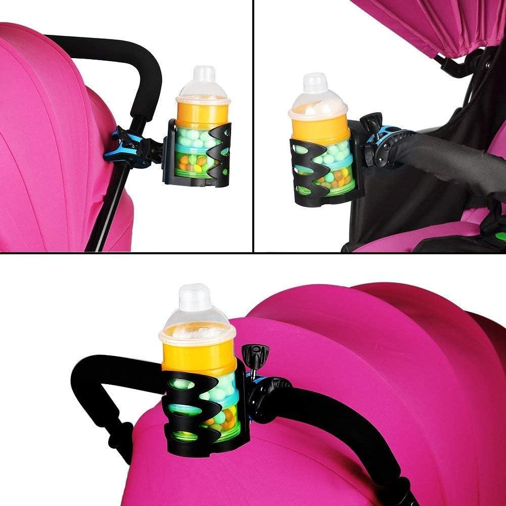 Aufsteckbarer Getr?nkehalter F/ür Kinderwagen Gr/ün Rollstuhl und Kinderwagen Fahrrad ADDFOO Voll Verstellbarer Universal Kinderwagen Getr?nkehalter