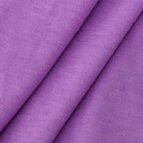 Hmlai Long Sleeve Tops, Women's Long Sleeve Loose Fit High Low Lace Trim Hem Blouse Tops T Shirt