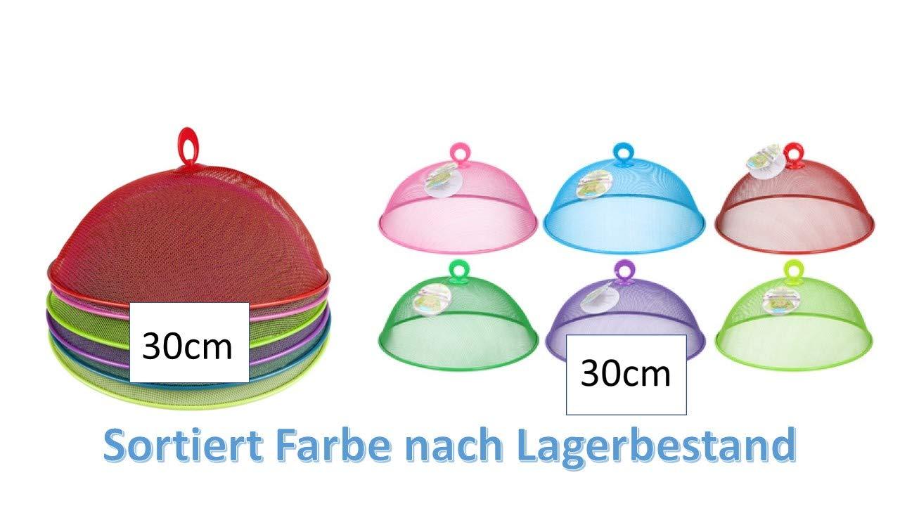 Fliegenhaube/Abdeckhaube / Lebensmittel - Haube aus Metall Ø 30 x 12 cm + Aktion 3er Set Wespenfalle von Conny Clever (blau)