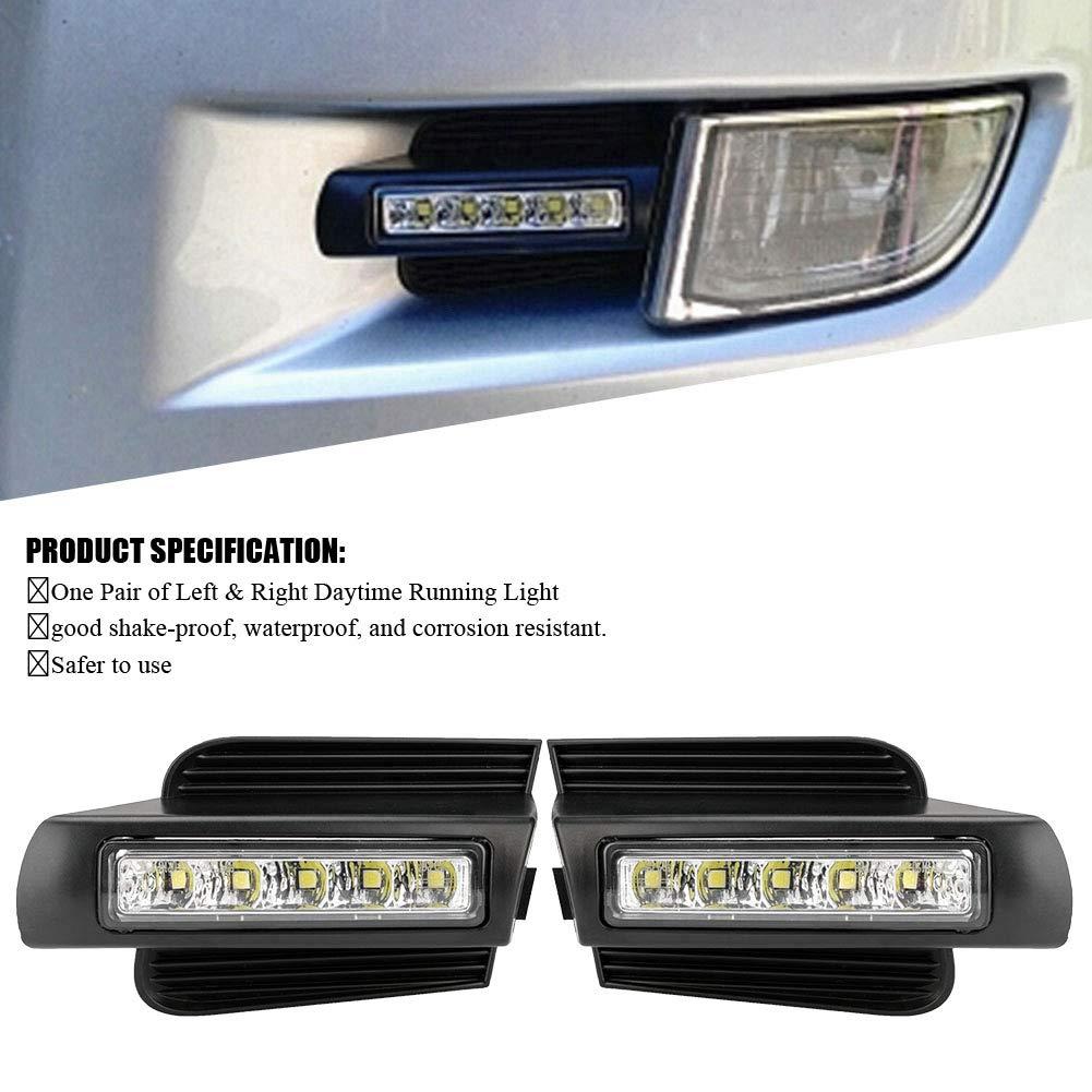 1Pair Car Daytime Running Light DRL LED Daylight Turn Signal White LED for Toyota Prado 120 LC120 GRJ120 02-09