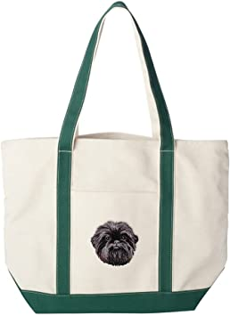 NEWFOUNDLAND embroidered tote bag ANY COLOR