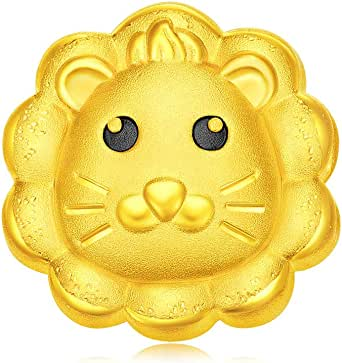 Chow Tai Fook 999 Pure 24K Gold Cute Lion Charm