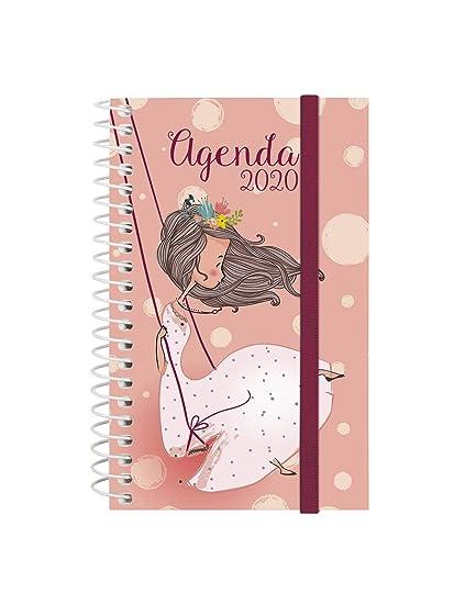 Finocam - Agenda 2020 semana vista apaisada Espiral Design Collection Romantic español