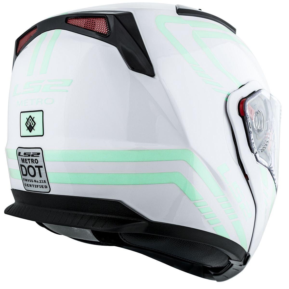 Amazon.com: LS2 Helmets Metro Firefly Modular Motorcycle Helmet with Sunshield (White, X-Small): Automotive