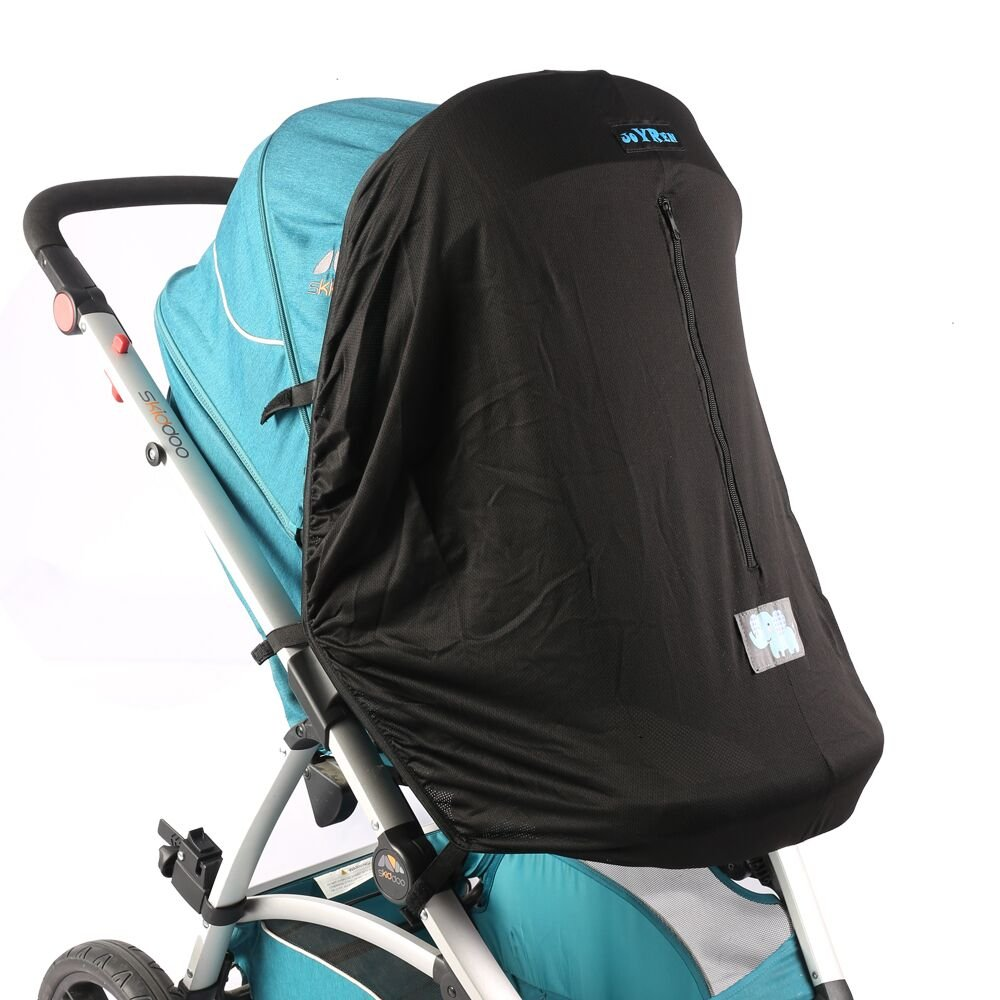 Baby Stroller Sunshade by JOYREN Blackout Blind for Prams/Pushchairs with UV Protection Windproof Black