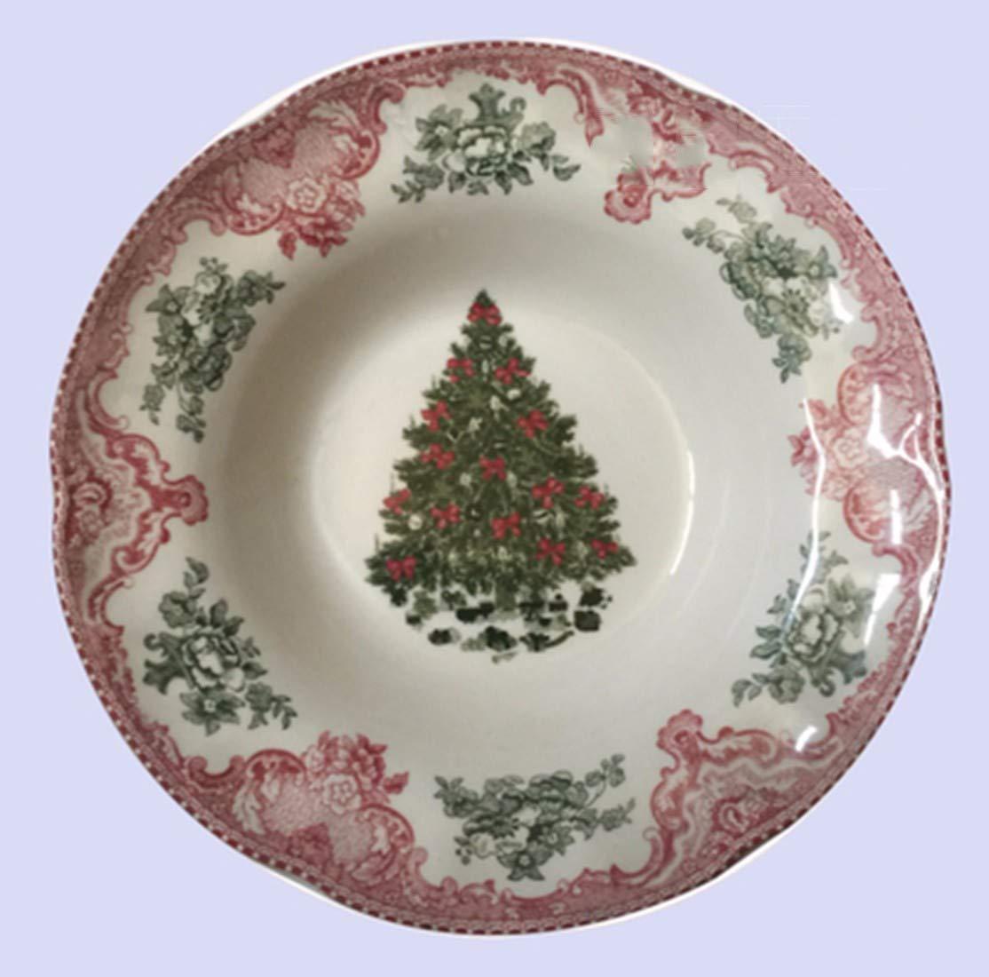 F  QPGGP-vaisselle Anglo American Christmas série d'assiettes, Plats de Plats, Bols d'eau vaisselles décoratives,h