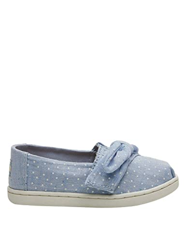 e6678893f Amazon.com | TOMS Kids Baby Girl's Alpargata (Toddler/Little Kid) Light  Bliss Blue Speckled Chambray Dots/Bow 7 M US Toddler | Loafers