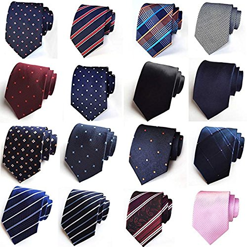 Cufflinks Formal Pocket Necktie Prom Tie Square Pulchram Gift Box Clip for 03 Wedding and Parties Tie Set and Handkerchief Occasions Men's qgxFw8tnUq