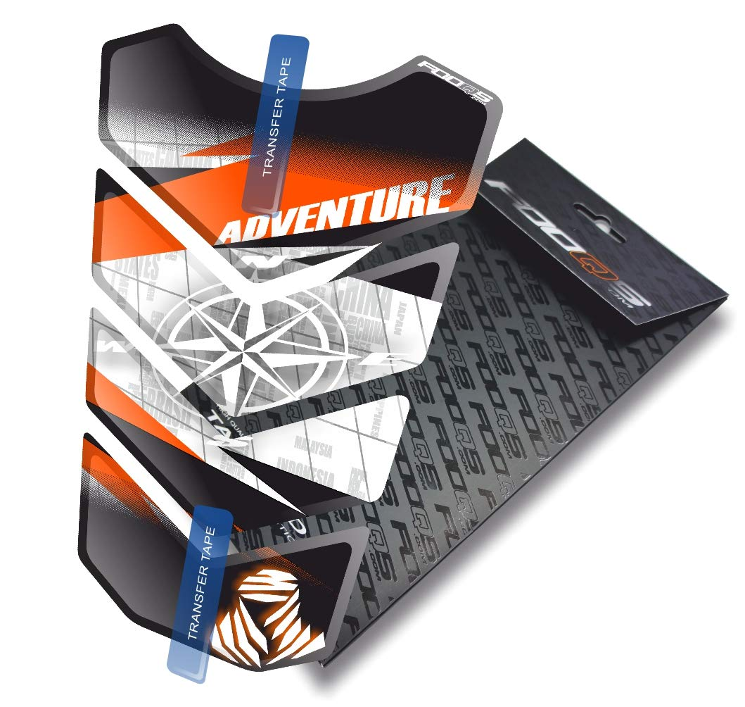 Black//White//Orange 2 Motorcycle Gas Protector Sticker 3D Rubber Fuel Tank Pad Tankpad Protector Decal for KTM 1050 1090 1190 1290 Adventure AdventureR R Adventure-R