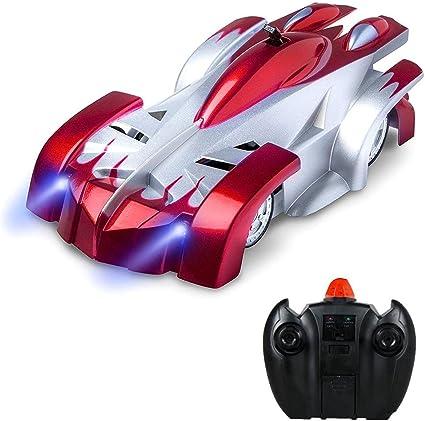 KOBWA Pared Escalada RC Auto Escalada Mini Escalada RC Auto Niños eléctrica Mando A Distancia Juguete Versión de Carga Vertical Escalada Pared Juguete ...
