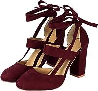 Liquidación! Covermason Moda Mujer Sandalia de tacón de aguja Sandalia de tacón de tobillo para la fiesta de la boda(38 EU