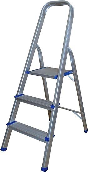 Escalera de aluminio con 3 peldaños.: Amazon.es: Bricolaje y herramientas