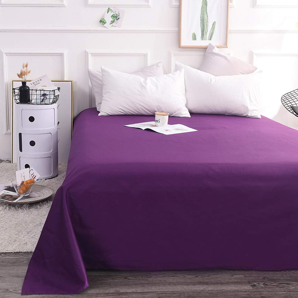 Bedsheet Maxi Pure cotton double with elastic solid