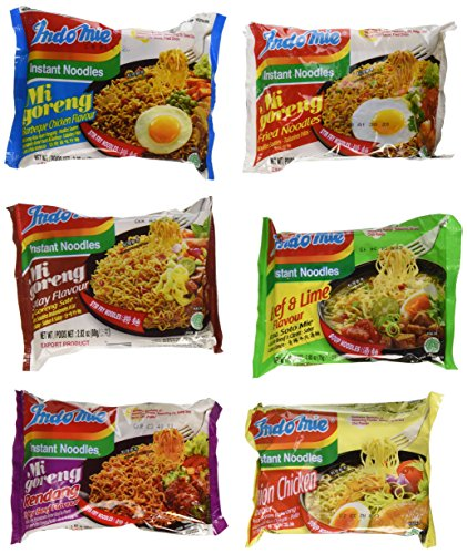 Price comparison product image Indomie Variety Pack - 1 Case (30 Bags)