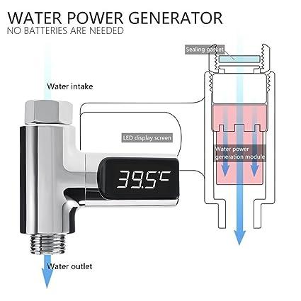 Termómetro de Baño Digital Termómetro de Ducha, Termómetro de agua de la habitación para el baño del bebé Termómetro de Digitaces sin energía con la ...