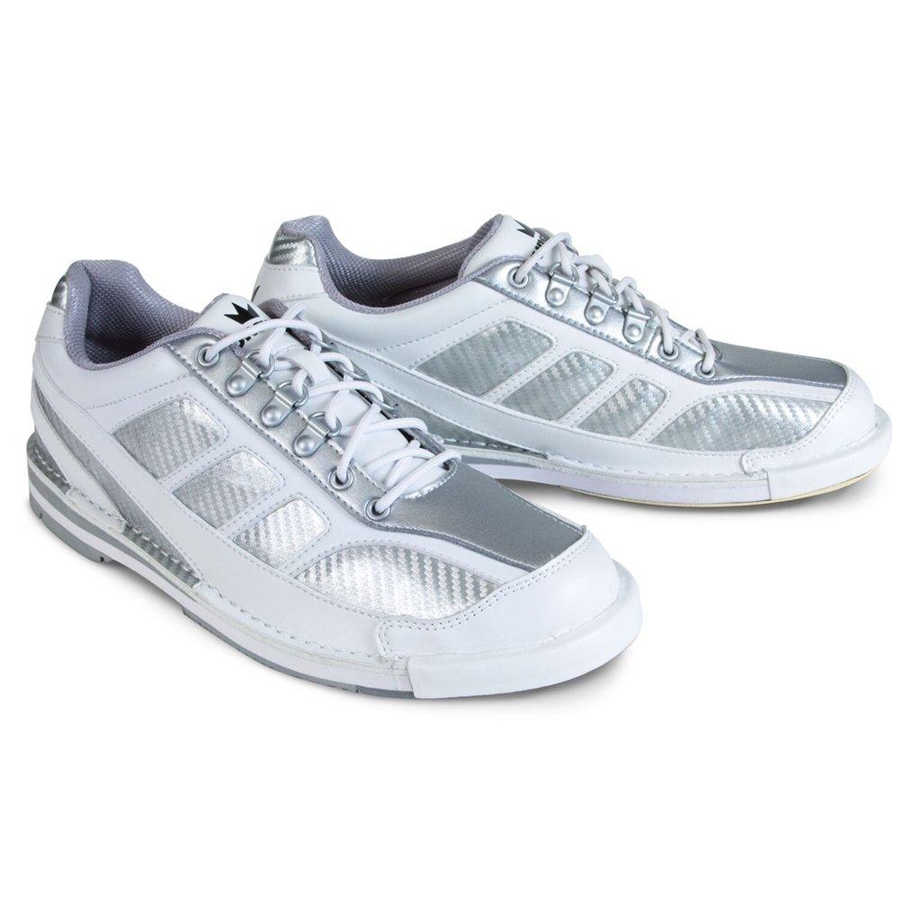 Brunswick Men's Phantom Bowling Shoes, White/Silver, Size 8.5