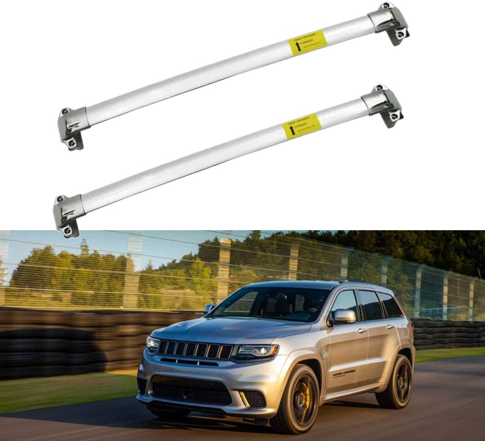 2 PCS MotorFansClub Roof Rack Cross Bars Fit for Compatible with Jeep Grand Cherokee 2011-2019 2020 Crossbars Baggage Cargo Luggage Aluminum