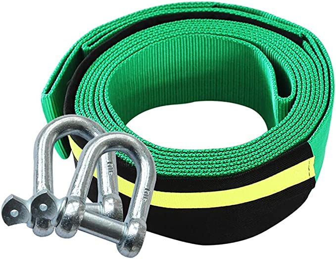 5M 8T Recovery Tow Strap Kit Heavy Duty Emergency Off Road Towing Rope w// D Ring