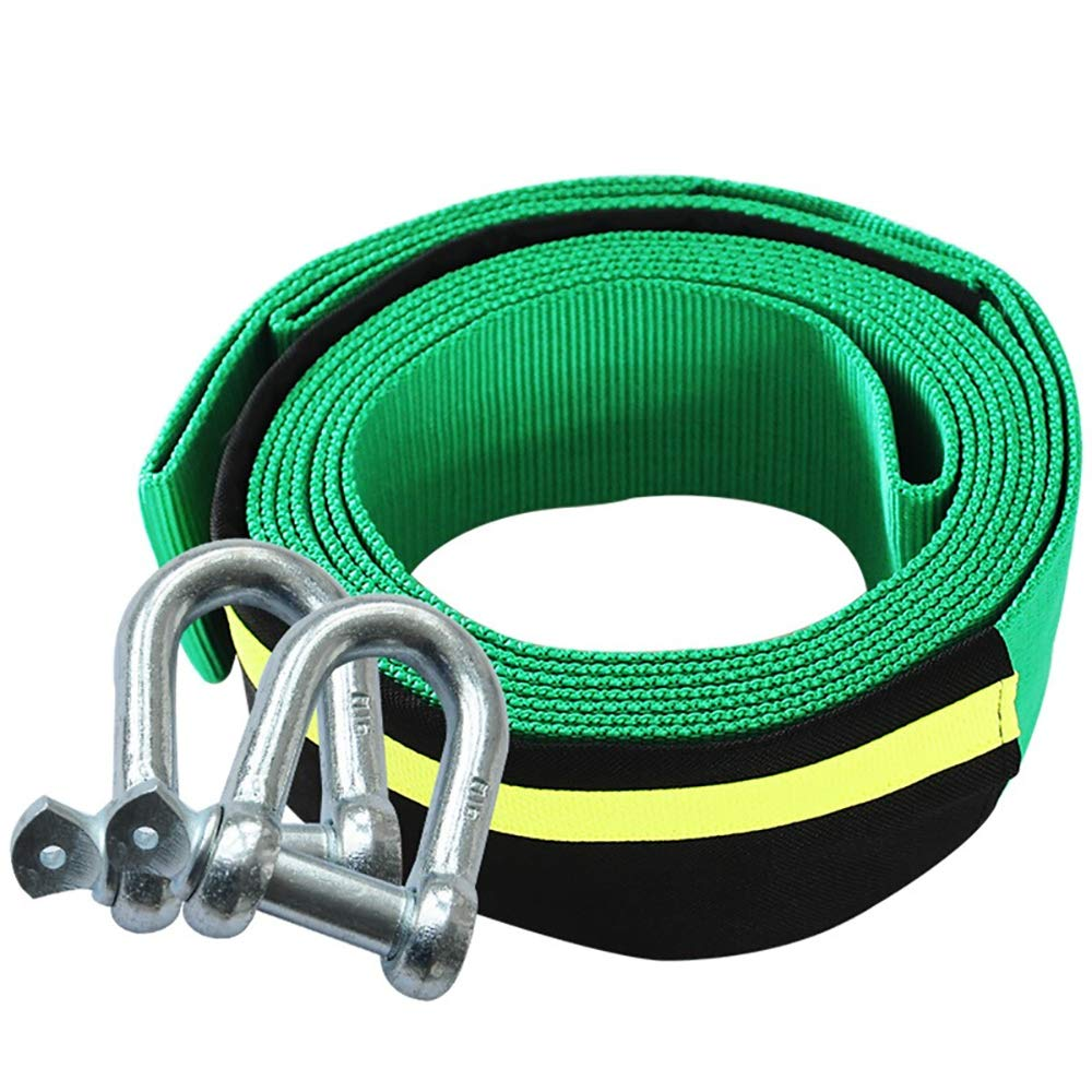 Road Towing Rope,Recovery Tow Strap Heavy Duty with Night Reflection Strip, U-Shaped Hook Traction Rope Recovery Strap 33,000 LB Break Strength Rope Winch Strap with 2 Hook Rescue Tool OLDF