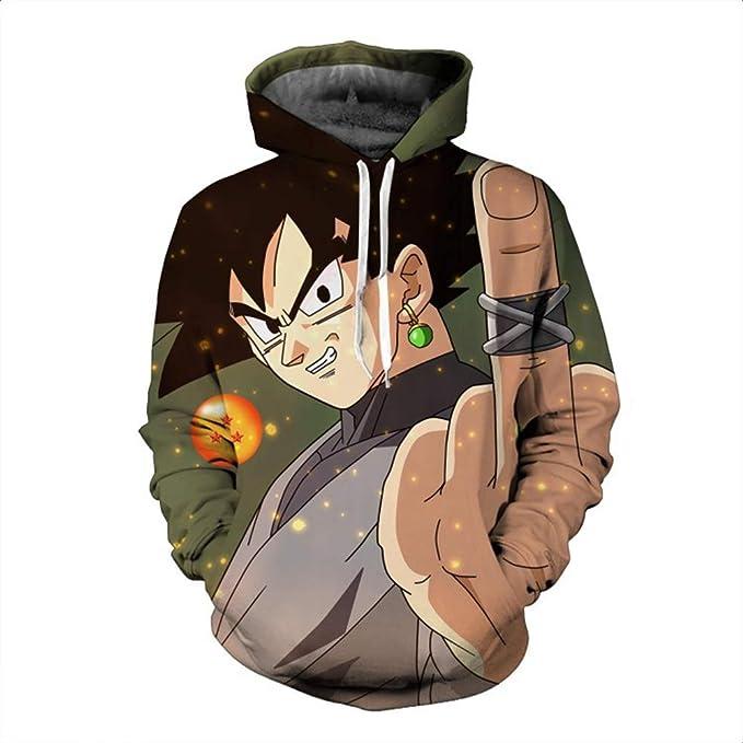 JUNMAONO Dragon Ball Z Abrigo Invierno Hombre Poliester Capa Casual Sudadera Cardigan Manga Larga Remata Abrigo